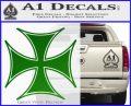 Iron Cross Decal Celtic Sticker D6 Green Vinyl Logo 120x97