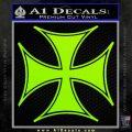 Iron Cross Decal Celtic Sticker D6 Lime Green Vinyl 120x120