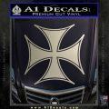 Iron Cross Decal Celtic Sticker D6 Metallic Silver Emblem 120x120