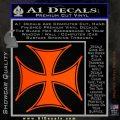 Iron Cross Decal Celtic Sticker D6 Orange Emblem 120x120