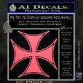 Iron Cross Decal Celtic Sticker D6 Pink Emblem 120x120