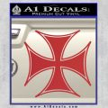 Iron Cross Decal Celtic Sticker D6 Red 120x120
