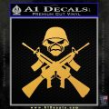 Iron Maiden Skull Rifles Decal Sticker Gold Vinyl 120x120