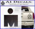 Ironman Triathalon Decal Sticker M Carbon FIber Black Vinyl 120x97