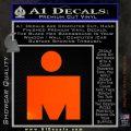 Ironman Triathalon Decal Sticker M Orange Emblem 120x120