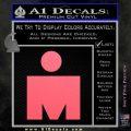 Ironman Triathalon Decal Sticker M Pink Emblem 120x120