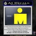 Ironman Triathalon Decal Sticker M Yellow Laptop 120x120