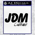 JDM Culture Decal Sticker Black Vinyl 120x120