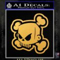 JDM Horror Skull D2 Decal Sticker Gold Vinyl 120x120