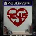 Jesus Heart Decal Sticker DRD Vinyl 120x120