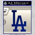 LA Dodgers Classic Decal Sticker Blue Vinyl 120x120