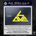 Love Triangle Decal Sticker Yellow Laptop 120x120