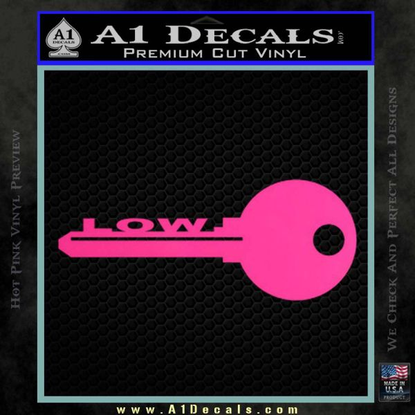 Low key decal sticker pink hot vinyl 120x120