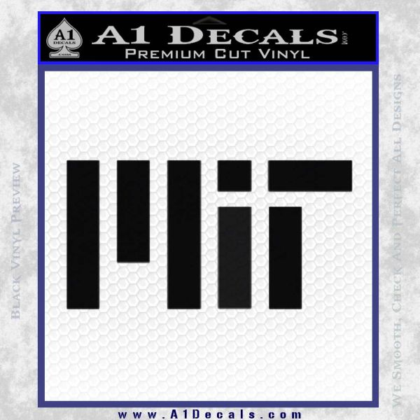 MIT Massachusetts Institute of Technology Decal Sticker Black Vinyl