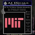 MIT Massachusetts Institute of Technology Decal Sticker Pink Emblem 120x120