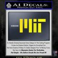 MIT Massachusetts Institute of Technology Decal Sticker Yellow Laptop 120x120