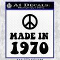 Made In 1970 Decal Sticker Black Vinyl 120x120