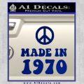 Made In 1970 Decal Sticker Blue Vinyl 120x120