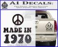 Made In 1970 Decal Sticker Carbon FIber Black Vinyl 120x97