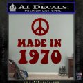 Made In 1970 Decal Sticker DRD Vinyl 120x120