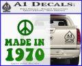 Made In 1970 Decal Sticker Green Vinyl Logo 120x97