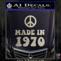Made In 1970 Decal Sticker Metallic Silver Emblem 120x120