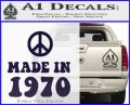 Made In 1970 Decal Sticker PurpleEmblem Logo 120x97