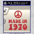 Made In 1970 Decal Sticker Red 120x120