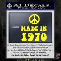 Made In 1970 Decal Sticker Yellow Laptop 120x120