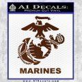 Marines Decal Sticker Full BROWN Vinyl 120x120