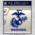 Marines Decal Sticker Full Blue Vinyl 120x120