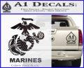 Marines Decal Sticker Full Carbon FIber Black Vinyl 120x97