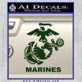 Marines Decal Sticker Full Dark Green Vinyl 120x120