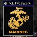 Marines Decal Sticker Full Gold Vinyl 120x120