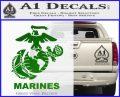 Marines Decal Sticker Full Green Vinyl Logo 120x97
