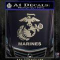 Marines Decal Sticker Full Metallic Silver Emblem 120x120
