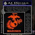 Marines Decal Sticker Full Orange Emblem 120x120