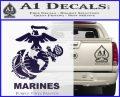 Marines Decal Sticker Full PurpleEmblem Logo 120x97