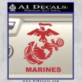 Marines Decal Sticker Full Red 120x120