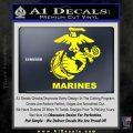 Marines Decal Sticker Full Yellow Laptop 120x120
