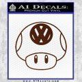 Mario Mushroom VW D1 Decal Sticker BROWN Vinyl 120x120