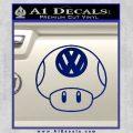 Mario Mushroom VW D1 Decal Sticker Blue Vinyl 120x120