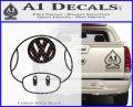 Mario Mushroom VW D1 Decal Sticker Carbon FIber Black Vinyl 120x97