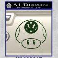 Mario Mushroom VW D1 Decal Sticker Dark Green Vinyl 120x120