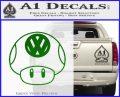 Mario Mushroom VW D1 Decal Sticker Green Vinyl Logo 120x97