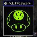 Mario Mushroom VW D1 Decal Sticker Lime Green Vinyl 120x120