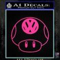 Mario Mushroom VW D1 Decal Sticker Pink Hot Vinyl 120x120