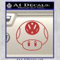 Mario Mushroom VW D1 Decal Sticker Red 120x120