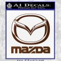 Mazda Decal Sticker Full BROWN Vinyl 120x120