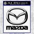 Mazda Decal Sticker Full Black Vinyl 120x120